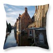 Canal By Church Throw Pillow