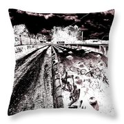 Canal De Lachine - Rail Bridge Throw Pillow