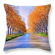 Canal Du Midi Throw Pillow
