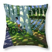 Canal Du Midi France Throw Pillow