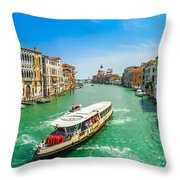 Famous Canal Grande In Venice Throw Pillow