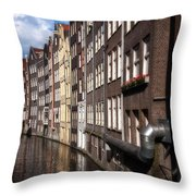 Canal Houses Throw Pillow