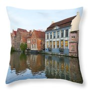 Channel In Ghent Throw Pillow