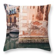 Canal In Venice, Italy Throw Pillow