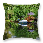 Canal Living Throw Pillow