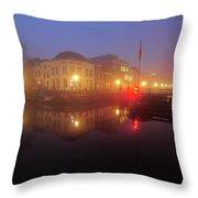 Canal Lock Weerdsluis In Utrecht In The Evening 9 Throw Pillow