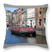 Canal Lunch Throw Pillow