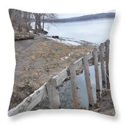 Canal Meets River Throw Pillow