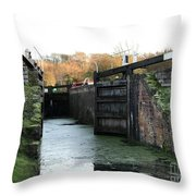 Canal Rocks Throw Pillow