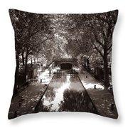Canal Saint Martin 2 Throw Pillow