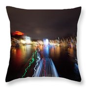 Canal Streaking Abstract Throw Pillow