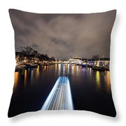 Canal Streaking I Throw Pillow
