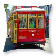 Canal Street Cable Car Throw Pillow