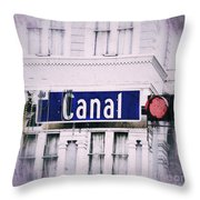 Canal Street In The Big Easy Throw Pillow