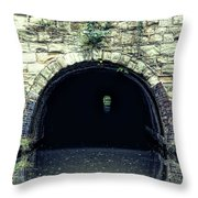 Canal Tunnel Throw Pillow