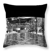 Canal Walk Tunnel Throw Pillow