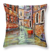Canale Veneziano Throw Pillow