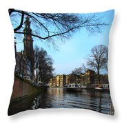 Canals Of Amsterdam IIi Throw Pillow