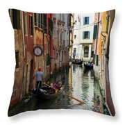 Canals Of Venice Italy Throw Pillow