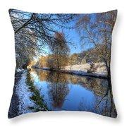 Canalside Winter Wonderland Throw Pillow