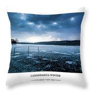 Canandaigua Lake Winter Throw Pillow