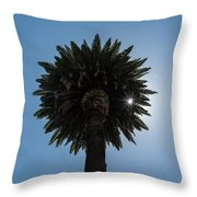 Date Palm Starburst Throw Pillow