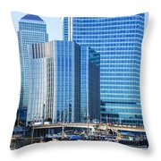 Canary Wharf 10 Throw Pillow