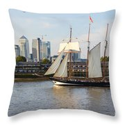 Canary Wharf 5 Throw Pillow