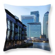 Canary Wharf 7 Throw Pillow