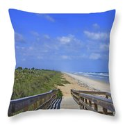 Canaveral Walkway Throw Pillow
