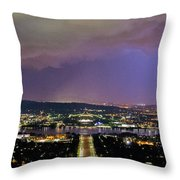 Canberra Stormy Night Throw Pillow