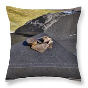Canberra Veterans Statue Throw Pillow