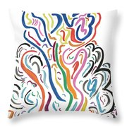 Cancan Throw Pillow