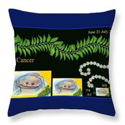 Cancer With William Baumol Throw Pillow