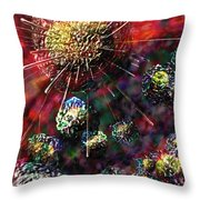 Cancer Cells Throw Pillow