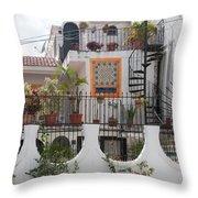 Cancun City Scenes Throw Pillow