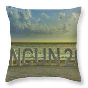 Cancun In 2015 Throw Pillow