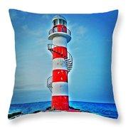 Cancun Lighthouse  Throw Pillow