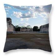 Cancun Mexico - Chichen Itza - Great Ball Court - Open End Throw Pillow