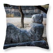 Cancun Mexico - Chichen Itza - Mayachacmool Throw Pillow