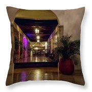 Cancun Mexico - Chichen Itza - Mayan Dining Hall Throw Pillow