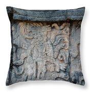 Cancun Mexico - Chichen Itza - Mosaic Wall Throw Pillow