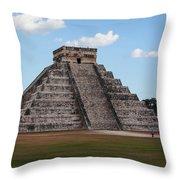 Cancun Mexico - Chichen Itza - Temple Of Kukulcan-el Castillo Pyramid 2 Throw Pillow