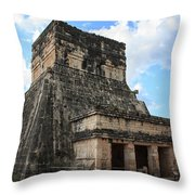 Cancun Mexico - Chichen Itza - Temples Of The Jaguar On The Great Ball Court Throw Pillow