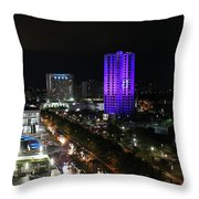 Cancun Mexico - Downtown Cancun Throw Pillow
