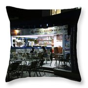 Cancun Mexico - Eating Out In Cancun Throw Pillow