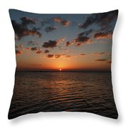Cancun Mexico - Sunset Over Cancun Throw Pillow