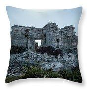 Cancun Mexico - Tulum Ruins - Palace Throw Pillow