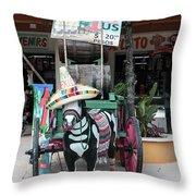 Cancun Mexico - Tulum Ruins - Souvenirs Throw Pillow