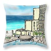 Cancun Royal Sands Throw Pillow